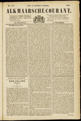 Alkmaarsche Courant 1886-11-24