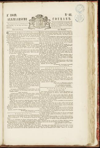 Alkmaarsche Courant 1849-03-12