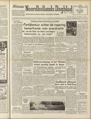 Nieuw Noordhollandsch Dagblad : voor Alkmaar en omgeving 1951-01-17