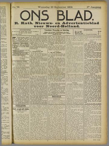 Ons Blad : katholiek nieuwsblad voor N-H 1909-09-22