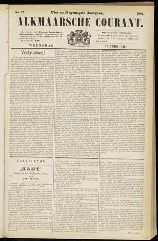 Alkmaarsche Courant 1892-02-17