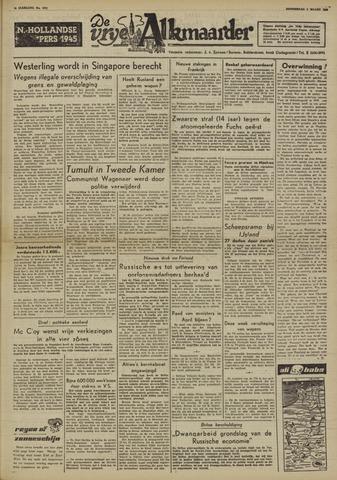De Vrije Alkmaarder 1950-03-02