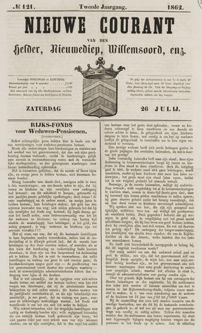 Nieuwe Courant van Den Helder 1862-07-26