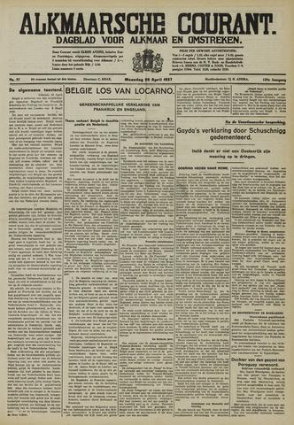 Alkmaarsche Courant 1937-04-26