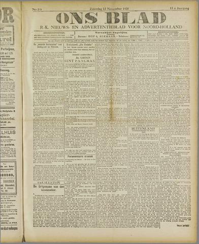 Ons Blad : katholiek nieuwsblad voor N-H 1920-11-13