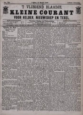 Vliegend blaadje : nieuws- en advertentiebode voor Den Helder 1880-03-12