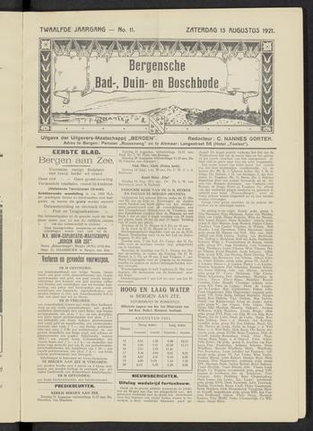 Bergensche bad-, duin- en boschbode 1921-08-13