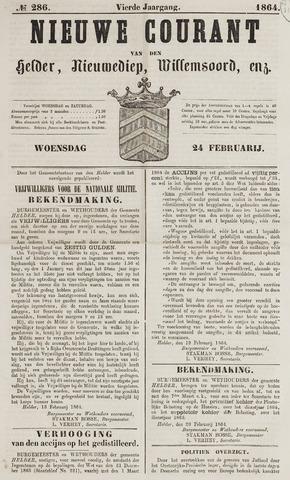 Nieuwe Courant van Den Helder 1864-02-24
