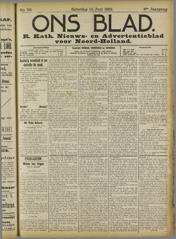Ons Blad : katholiek nieuwsblad voor N-H 1912-06-15