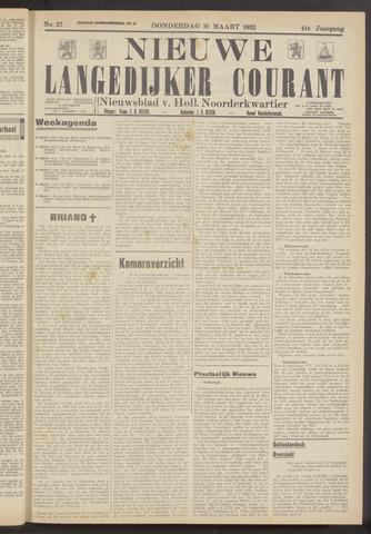 Nieuwe Langedijker Courant 1932-03-10