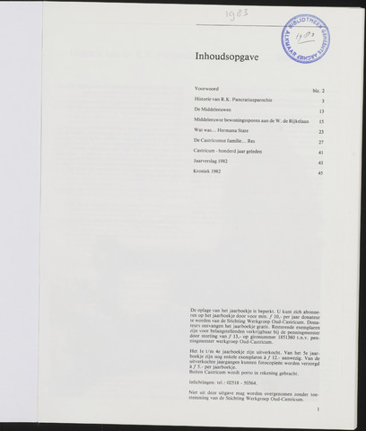 Jaarboek Oud Castricum 1983-11-01