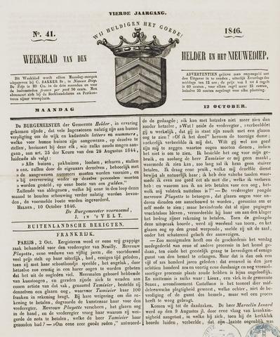 Weekblad van Den Helder en het Nieuwediep 1846-10-12