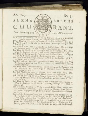 Alkmaarsche Courant 1809-12-25