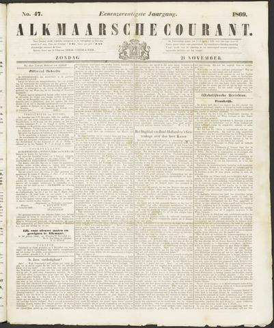 Alkmaarsche Courant 1869-11-21