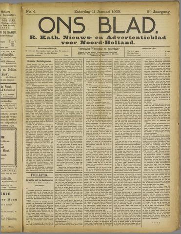 Ons Blad : katholiek nieuwsblad voor N-H 1908-01-11