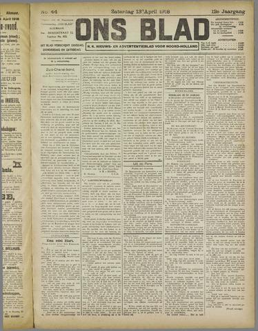 Ons Blad : katholiek nieuwsblad voor N-H 1918-04-13