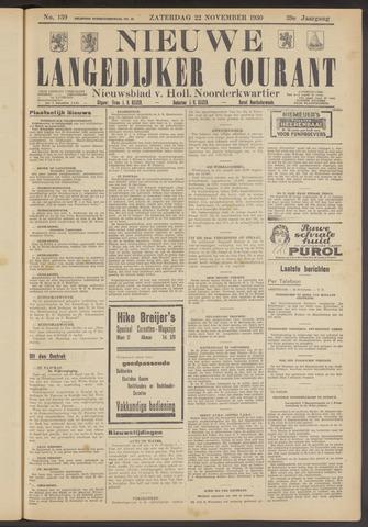 Nieuwe Langedijker Courant 1930-11-22
