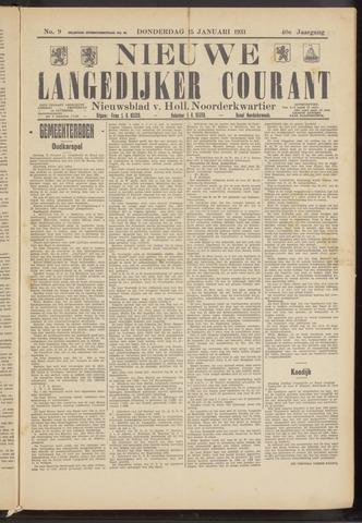Nieuwe Langedijker Courant 1931-01-15