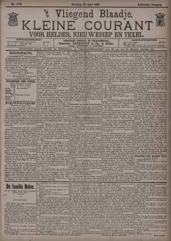 Vliegend blaadje : nieuws- en advertentiebode voor Den Helder 1890-04-26