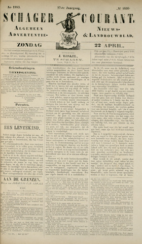 Schager Courant 1883-04-22