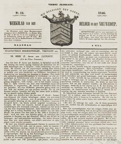 Weekblad van Den Helder en het Nieuwediep 1846-05-04