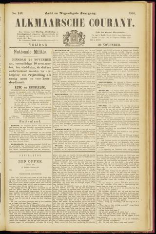 Alkmaarsche Courant 1896-11-20