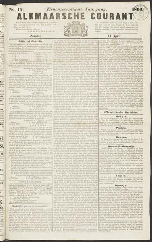 Alkmaarsche Courant 1869-04-11