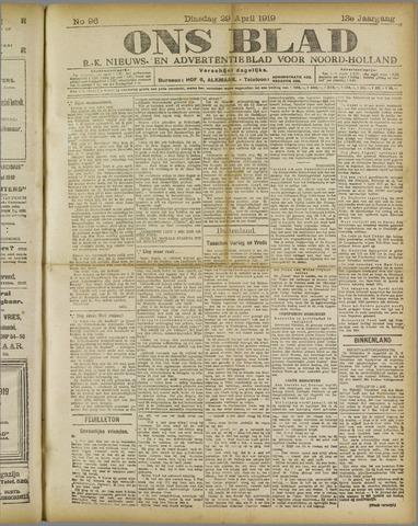 Ons Blad : katholiek nieuwsblad voor N-H 1919-04-29