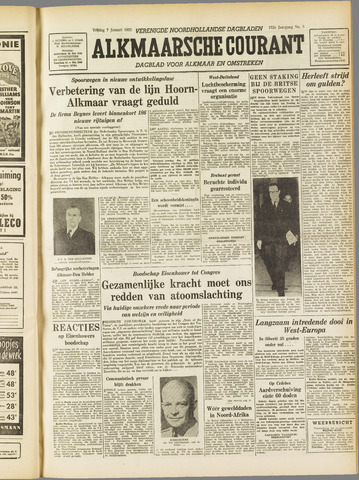 Alkmaarsche Courant 1955-01-07