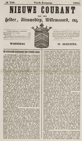 Nieuwe Courant van Den Helder 1864-08-31