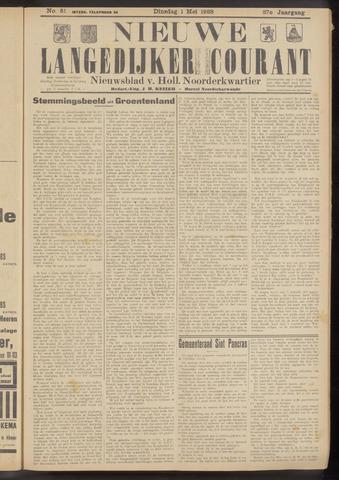 Nieuwe Langedijker Courant 1928-05-01