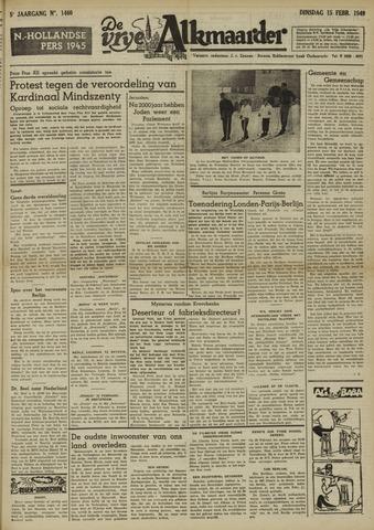 De Vrije Alkmaarder 1949-02-15