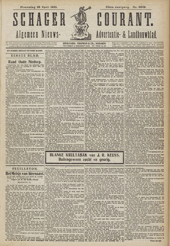 Schager Courant 1920-04-28