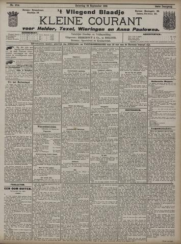 Vliegend blaadje : nieuws- en advertentiebode voor Den Helder 1908-09-26