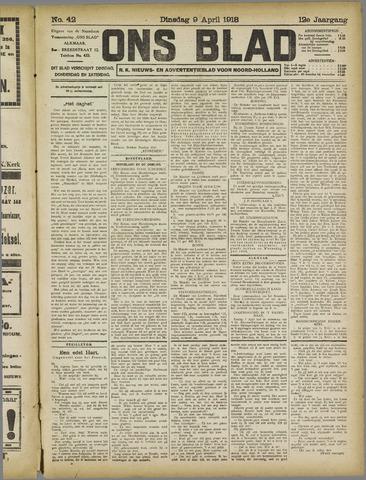 Ons Blad : katholiek nieuwsblad voor N-H 1918-04-09