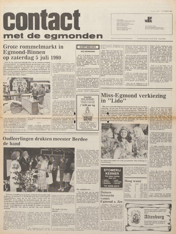 Contact met de Egmonden 1980-07-02