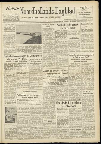 Nieuw Noordhollandsch Dagblad : voor Alkmaar en omgeving 1948-10-20