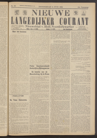 Nieuwe Langedijker Courant 1932-06-02