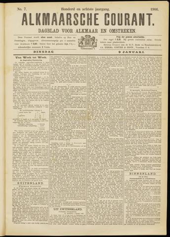 Alkmaarsche Courant 1906-01-09