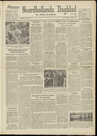Nieuw Noordhollandsch Dagblad : voor Alkmaar en omgeving 1948-04-28