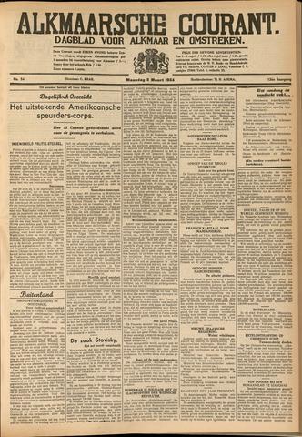 Alkmaarsche Courant 1934-03-05