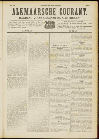 Alkmaarsche Courant 1909-07-26