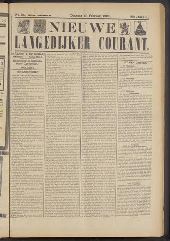 Nieuwe Langedijker Courant 1923-02-27