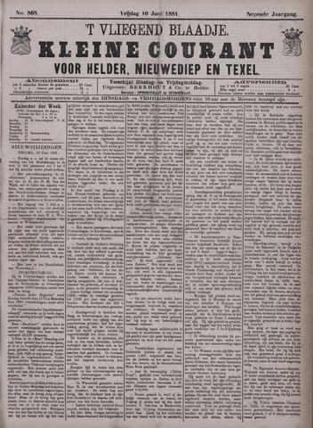 Vliegend blaadje : nieuws- en advertentiebode voor Den Helder 1881-06-10