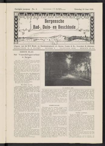 Bergensche bad-, duin- en boschbode 1939-06-10