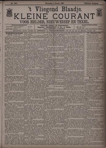 Vliegend blaadje : nieuws- en advertentiebode voor Den Helder 1887-10-05