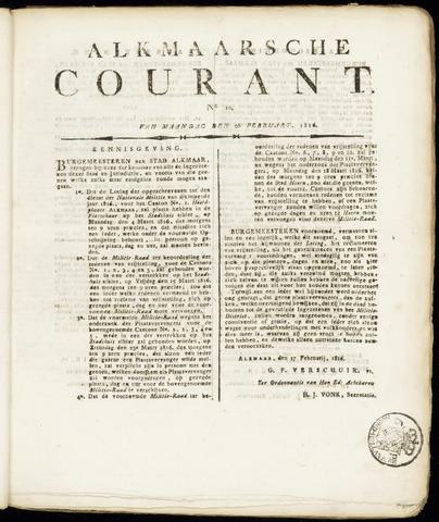 Alkmaarsche Courant 1816-02-26