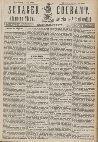 Schager Courant 1920-07-14