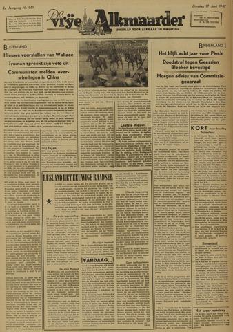 De Vrije Alkmaarder 1947-06-17