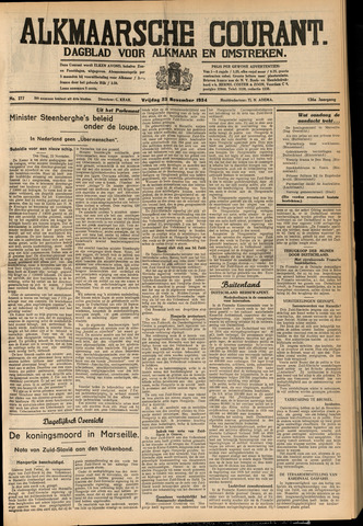 Alkmaarsche Courant 1934-11-23